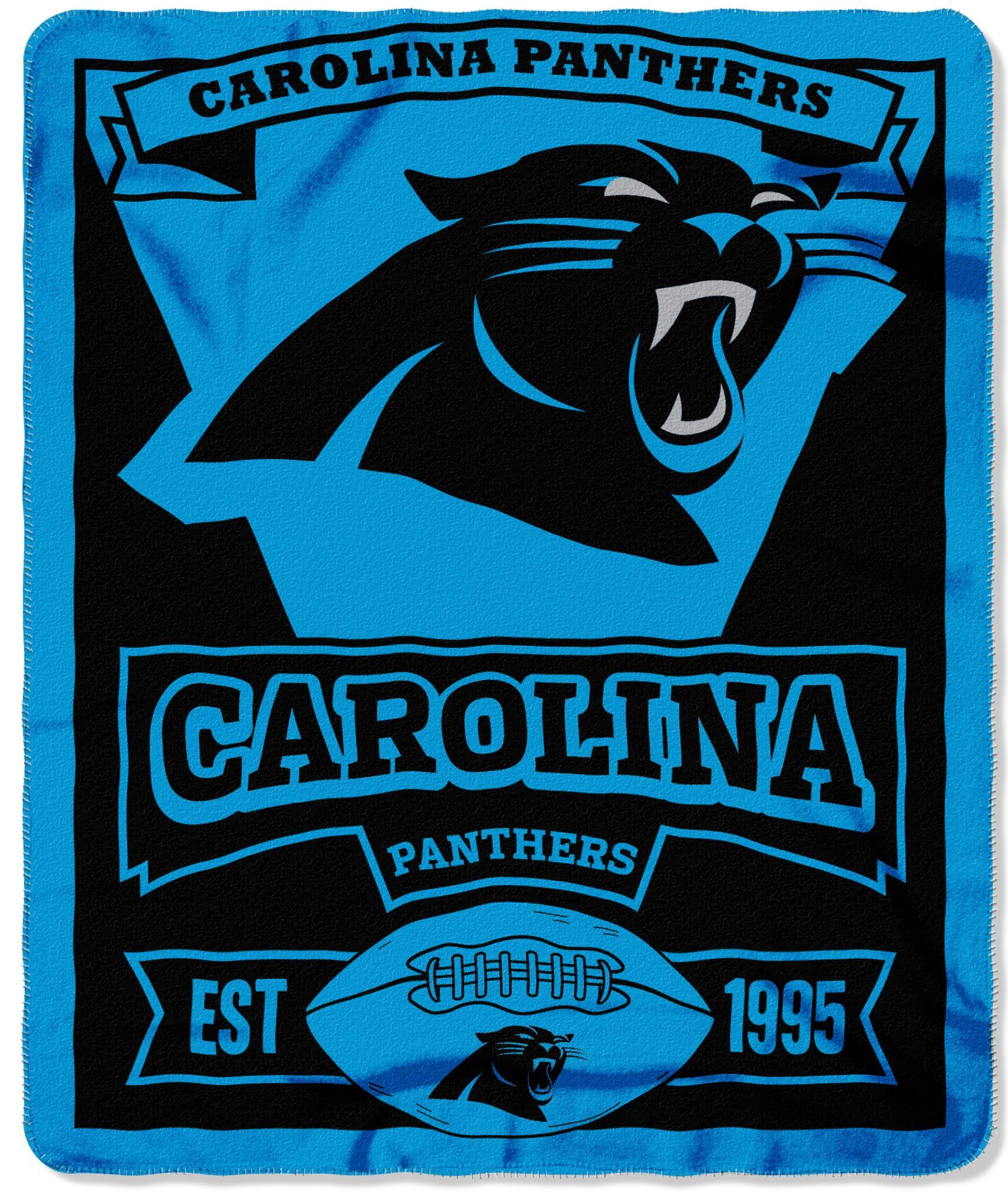 NFL Carolina Panthers Marque Printed Fleece Throw c07269bd0