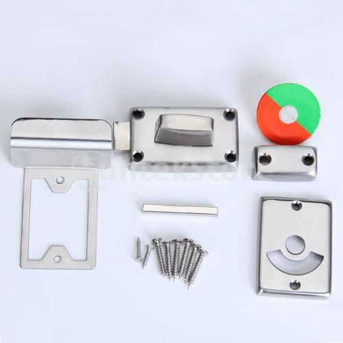 Vacant And Engaged Toilet Indicator Bolt Door Lock Stainless Steel Free Shipping Door Locks Door Latch Latches