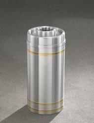 Capri D1534SA Donut Top Ash Trash Receptacle Satin Aluminum
