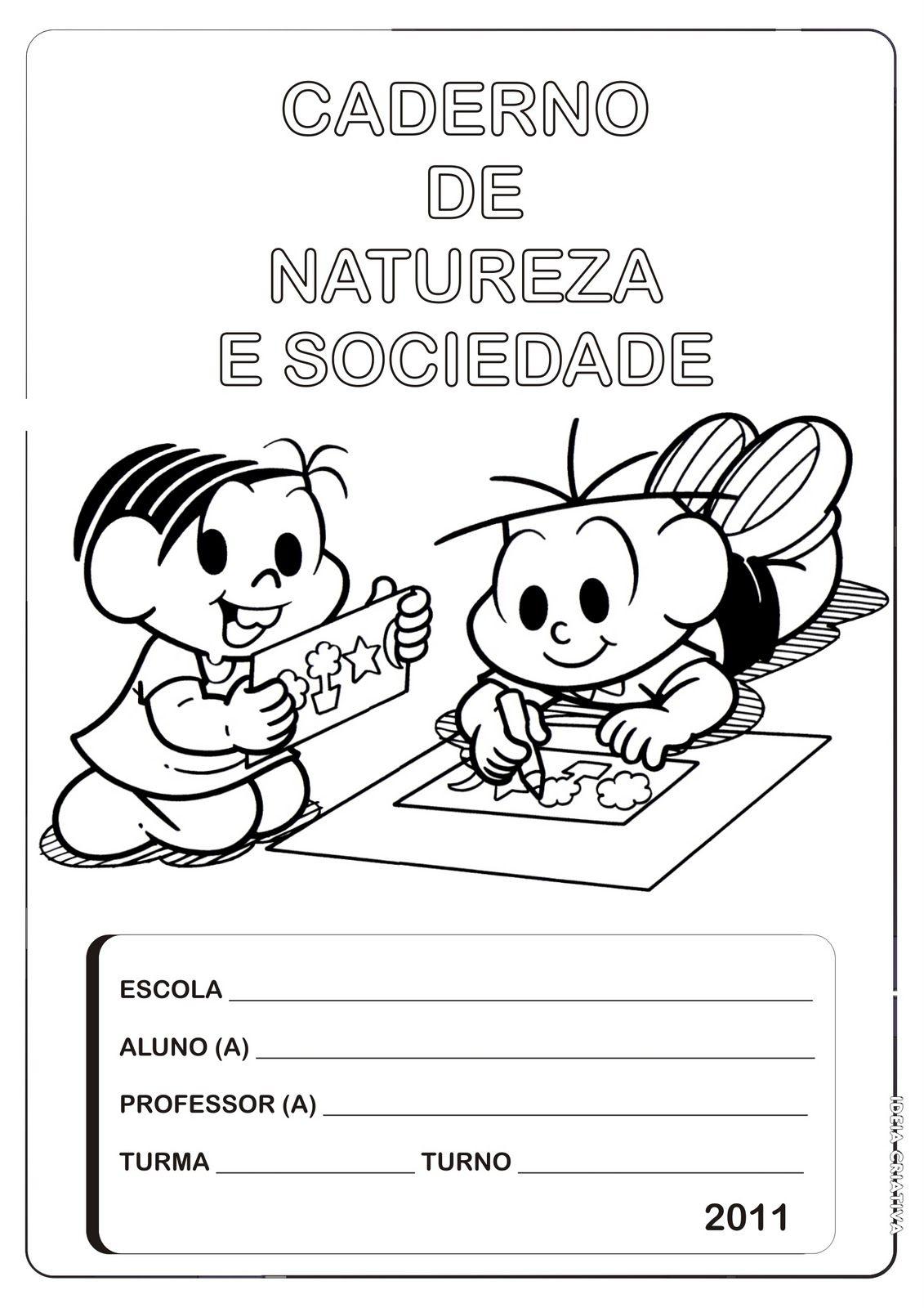 Well-known CAPAS DE CADERNO PARA IMPRIMIR E COLORIR | coisas pra ver | artes  OB45