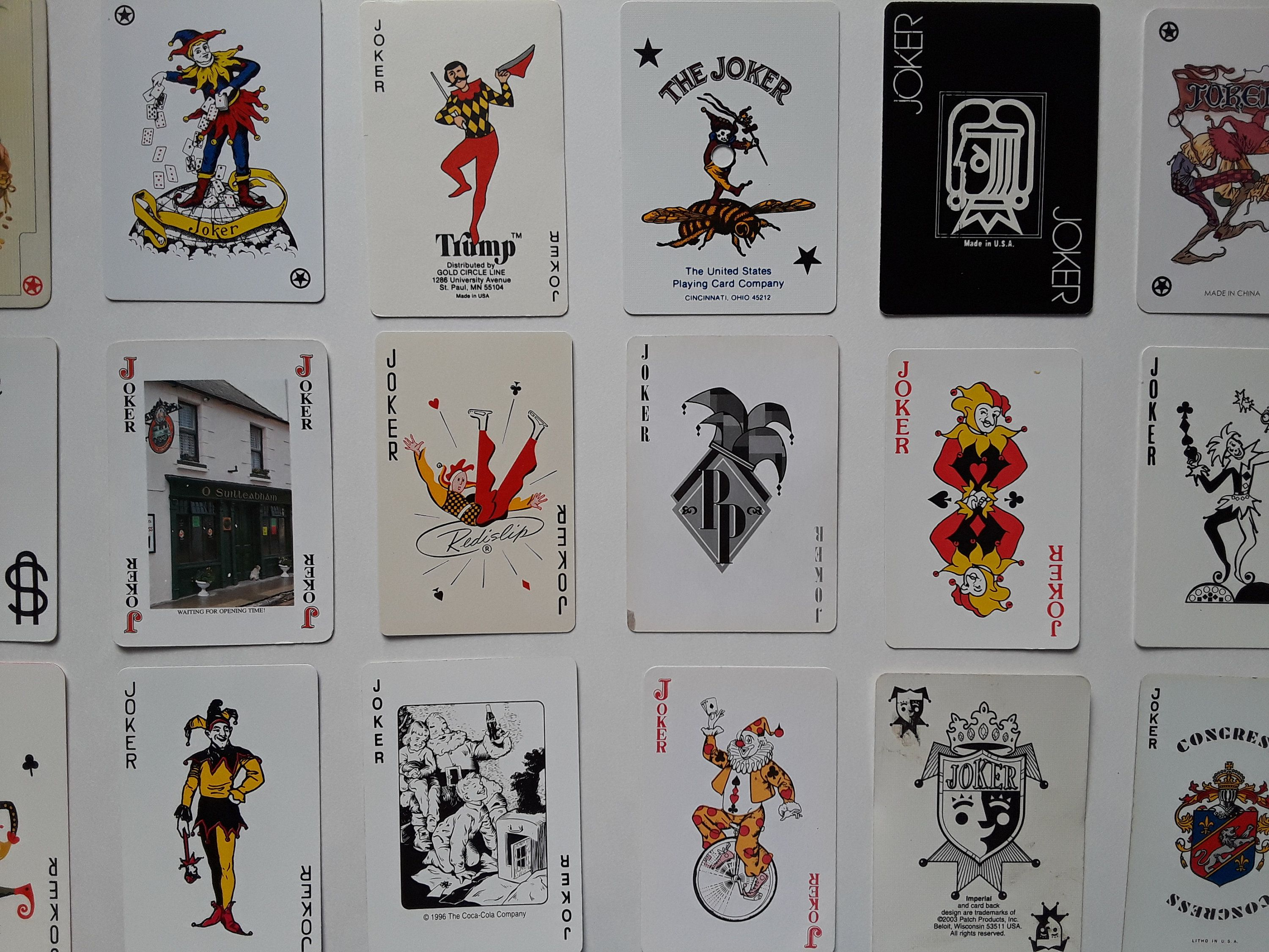 Instant Collection Of 21 Vintage Joker Playing Cards Joker Card Vintage Clowns Jokers Vintage Playing Cards Joker Vintage Joker Joker Playing Card Vintage Playing Cards Joker Card