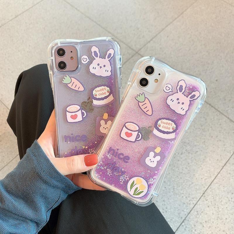 Purple Quicksand Rabbit iPhone Case   Iphone 11, Iphone, Case