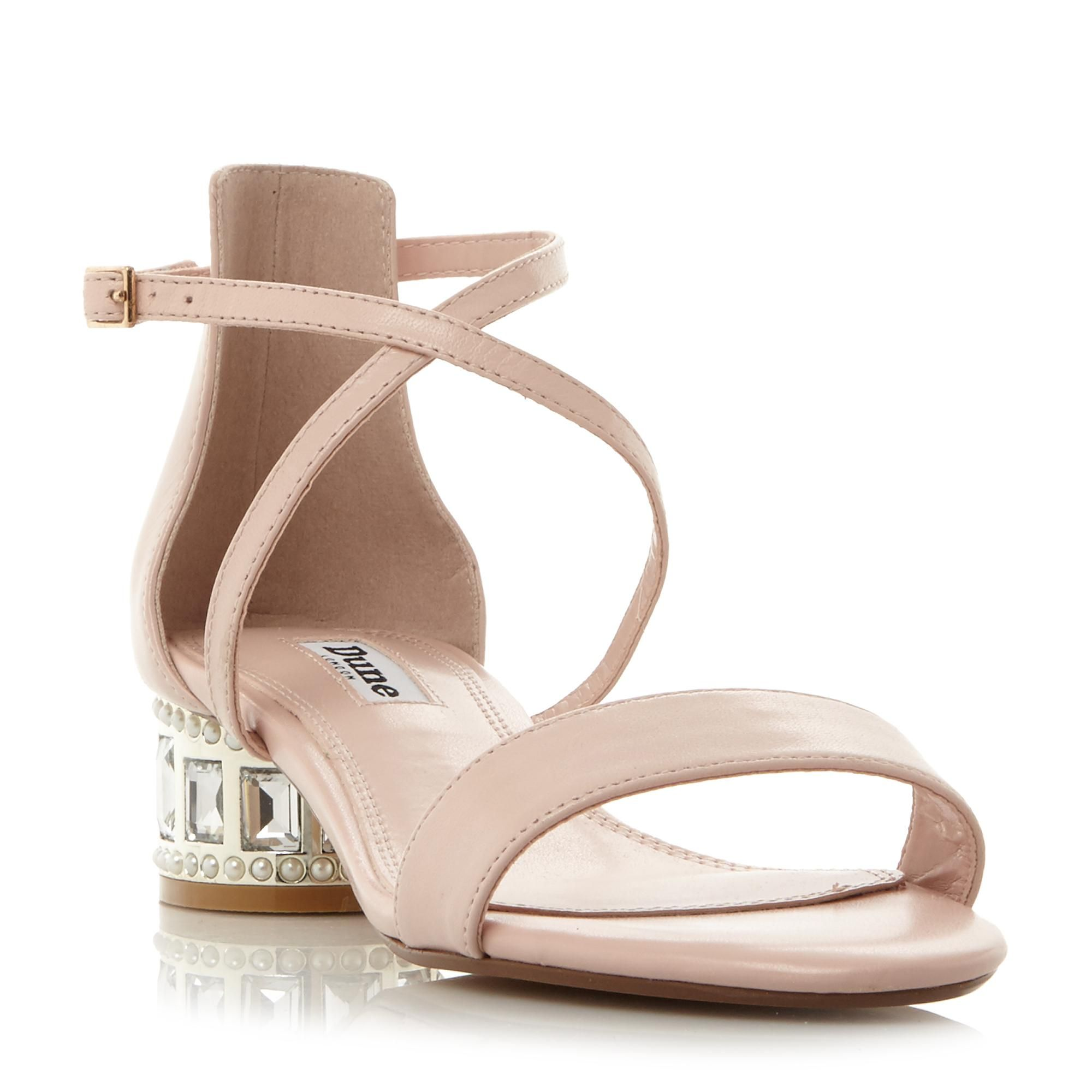 018ca6ddbc4 DUNE LADIES MERMAID - Jewel And Pearl Embellished Heel Sandal - blush |  Dune Shoes Online