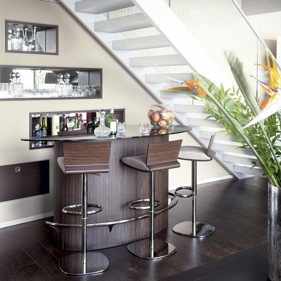 EL BAR EN CASA  deco  Living room bar Bar under stairs