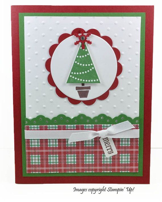 Cute Christmas Card by CardCreationsbyBeth (Etsy) stamping