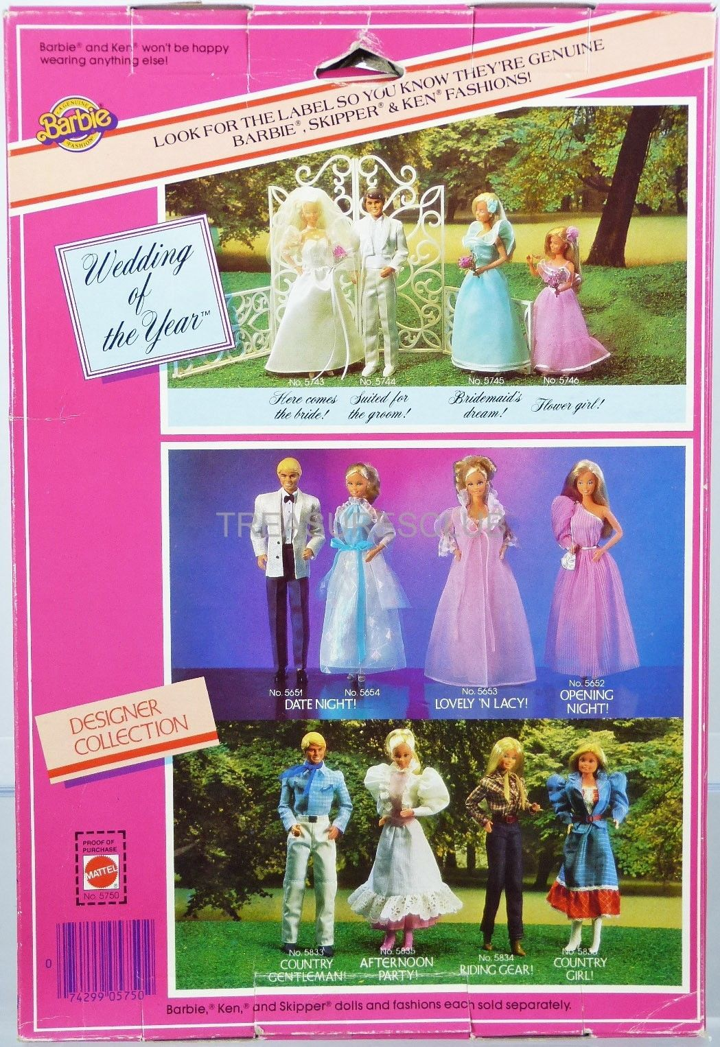 Skipper Barbie Wedding Of The Year Flower Girl 5746 New In Pack 1982 Mattel 3 Wedding Of The Year Barbie Wedding Barbie Bridal
