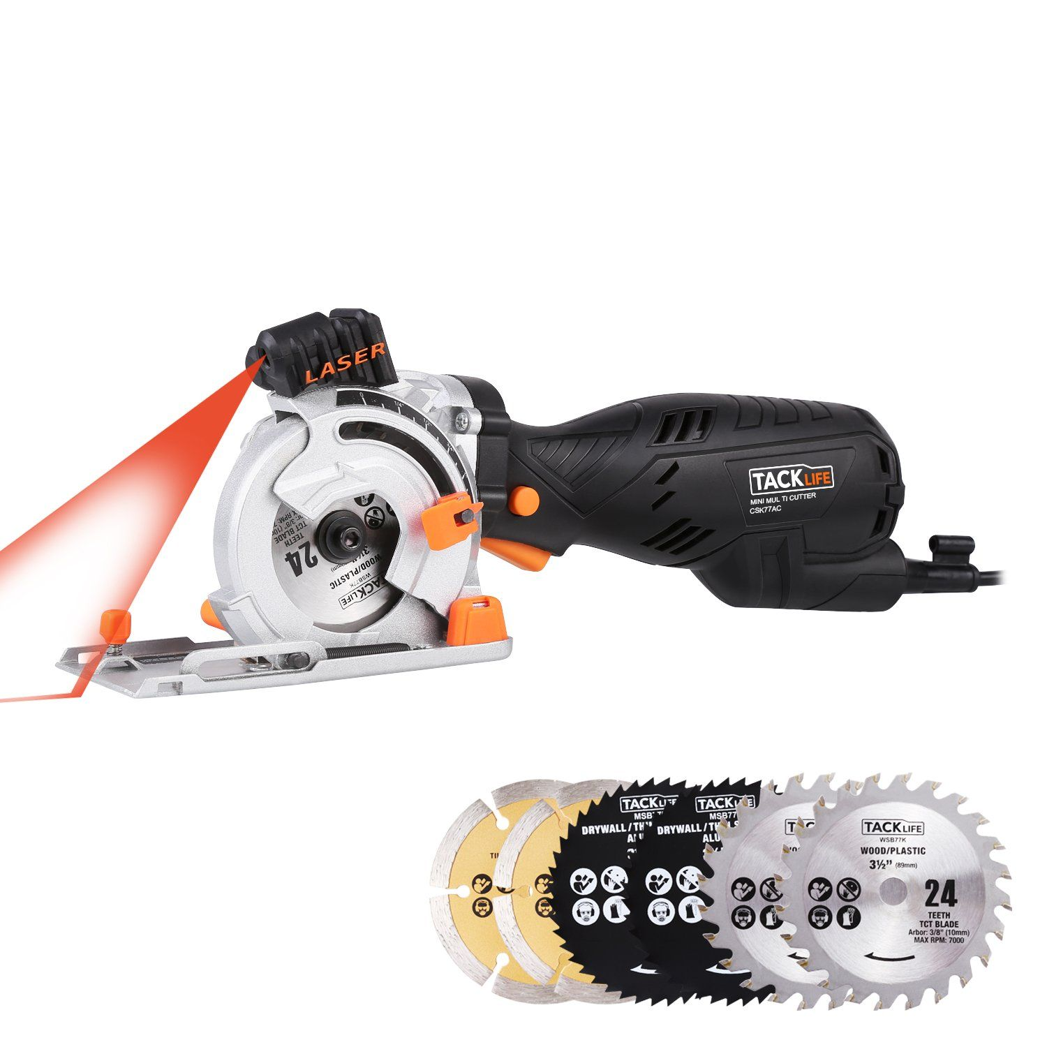 Tacklife mini circular saw csk77ac classic circular saw 705w 58 tacklife mini circular saw classic circular saw a equivalent to 4500 rpm left handed blade keyboard keysfo Gallery