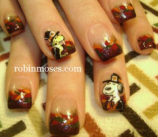 Nail Art By Robin Moses Fall Thanksgiving Autumn Nail Art Autumn