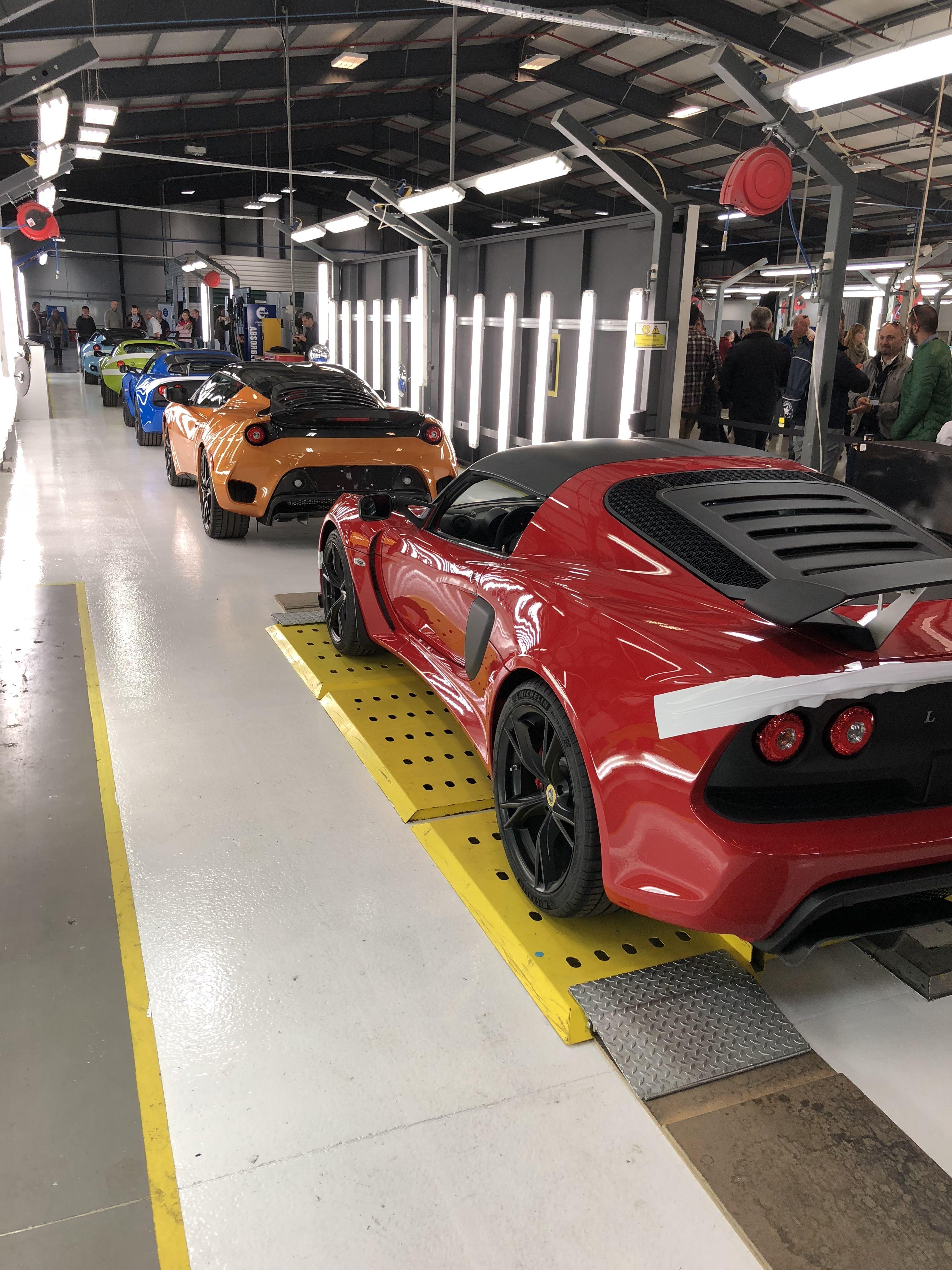 Lotus Factory Line At Hethel Armored Vehicles Lotus Car Cool Cars