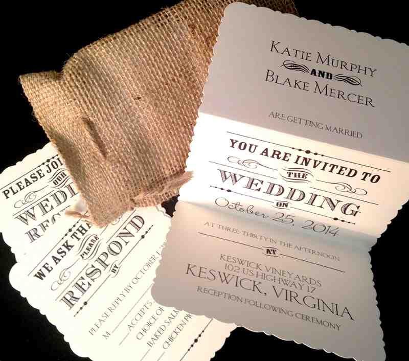 Rustic Wedding Ideas Using Burlap: Country Wedding Invitation Ideas