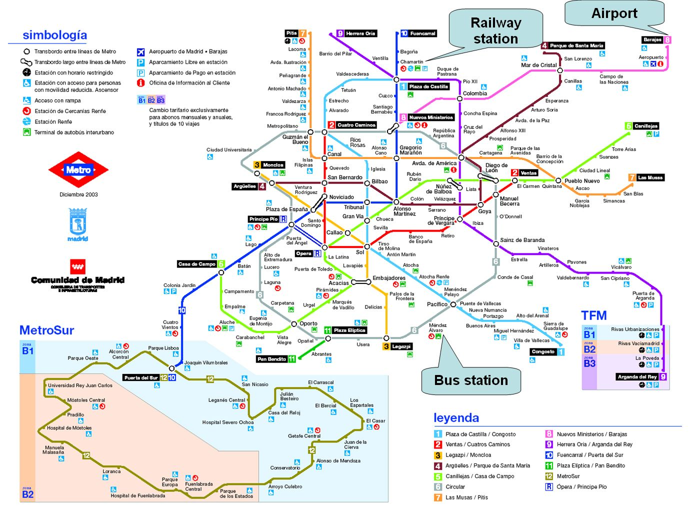 Image Result For Madrid Train Map Madrid Madrid Metro Train Map