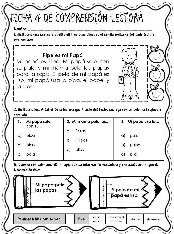 Lecturitas I Fichas De Comprensión Lectora Página 07 Comprensión Lectora Lectura De Comprensión Lecturas Para Comprension Lectora