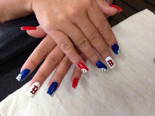 Explore Baseball Nail Designs, Baseball Nail Art, and more! - Image_491.jpg (620×465) Pats Pinterest