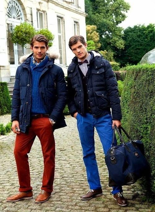 Red pants, blue pants