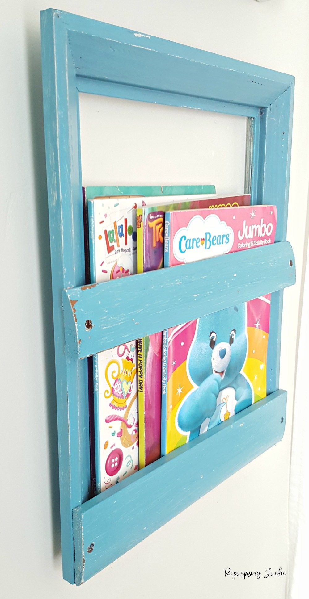 How To Make A Coloring Book Holder Using A Frame Book Holders Coloring Books Frame