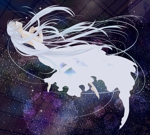 Abstract vocaloid dress stars hatsune miku falling down - Abstract anime girl ...