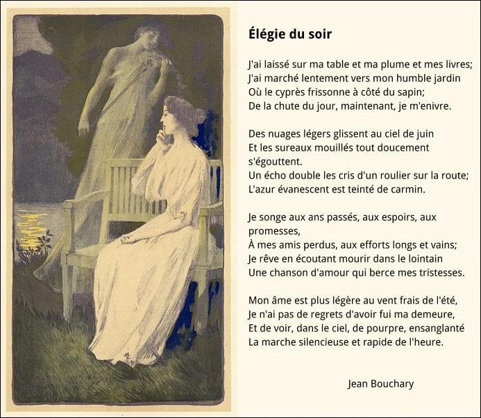 Elegie Du Soir Poesie Francaise Litterature Francaise Poesie