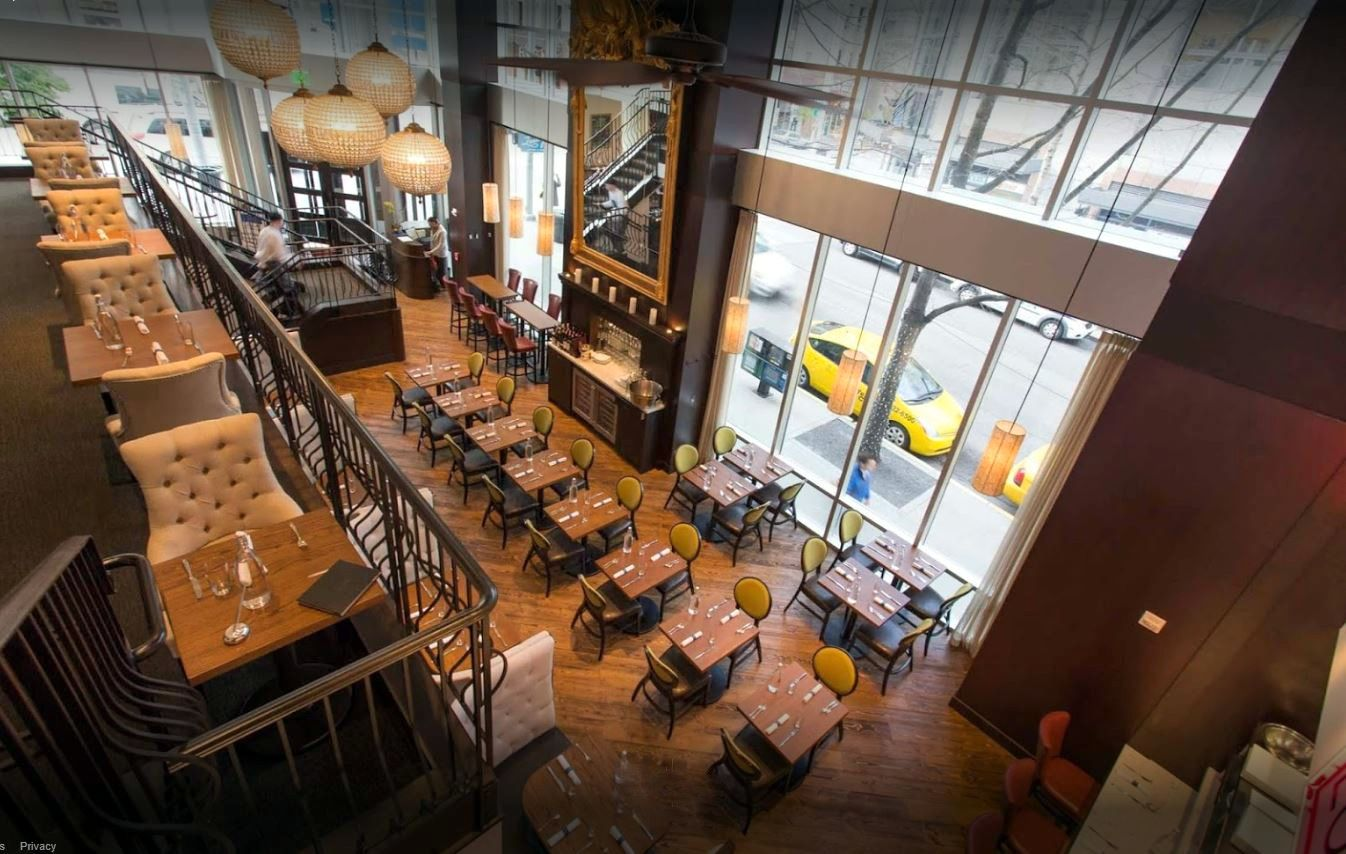 Nice Overhead Shot Of Our Canyon Collection Doug Fir Flooring At Loulay French Restaurant In Seattle