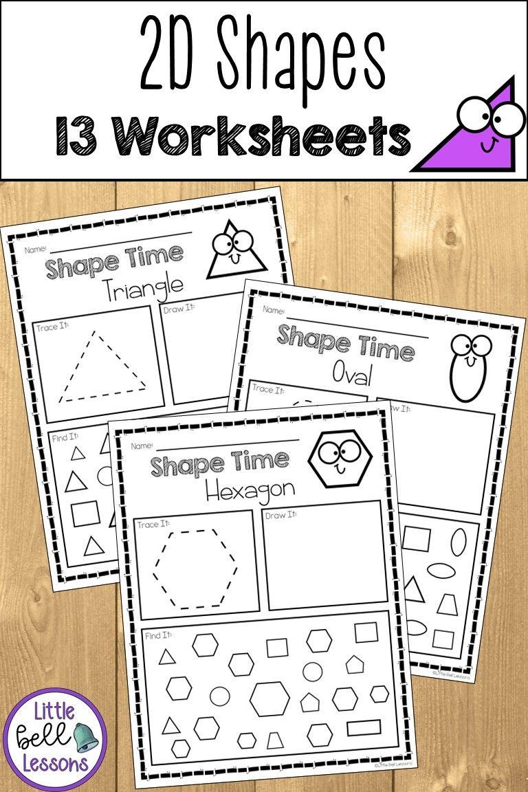 2d Shape Worksheets For Preschool Prek Kindergarten And First Grade In 2020 Shapes Kindergarten Shape Activities Preschool Shape Activities Kindergarten [ 1152 x 768 Pixel ]