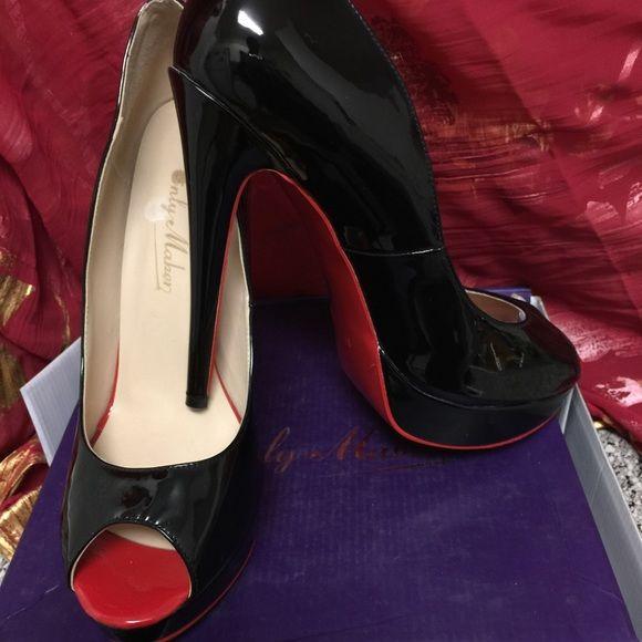 Designer custom red bottom heels size