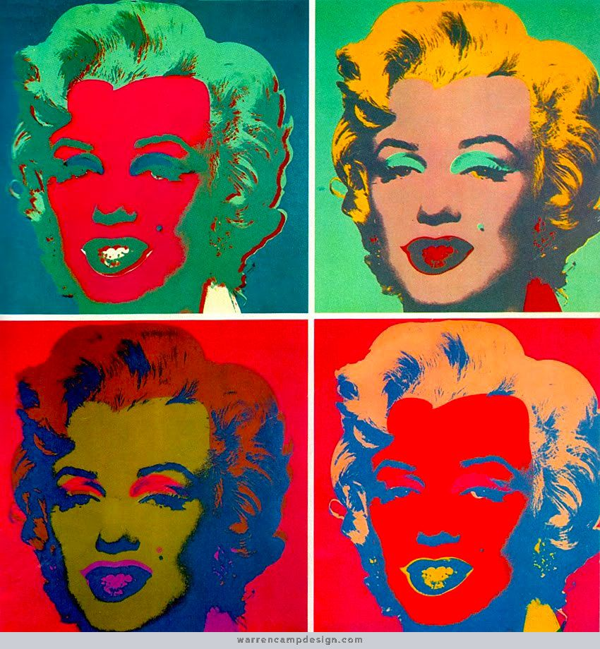 Warhol 39 s marilyn monroe multiple of four 1967 andy for Andy warhol famous works