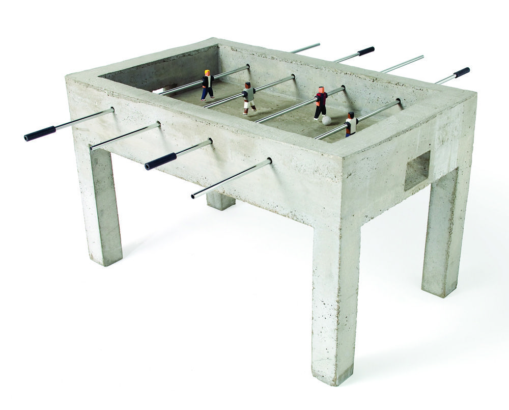 Thoroughly Urban: Jurjen Semeijnu0027s Panna Is A Raw Concrete Foosball Table  Where The Game Is