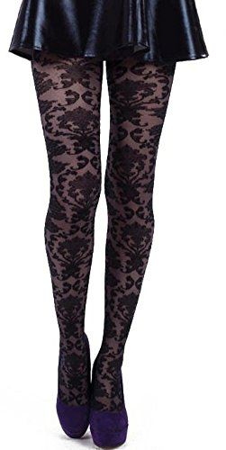 a4356d458 Fashion Bug Plus Size Black Baroque Lace  Tights -www.fashionbug.us   PlusSize  FashionBug