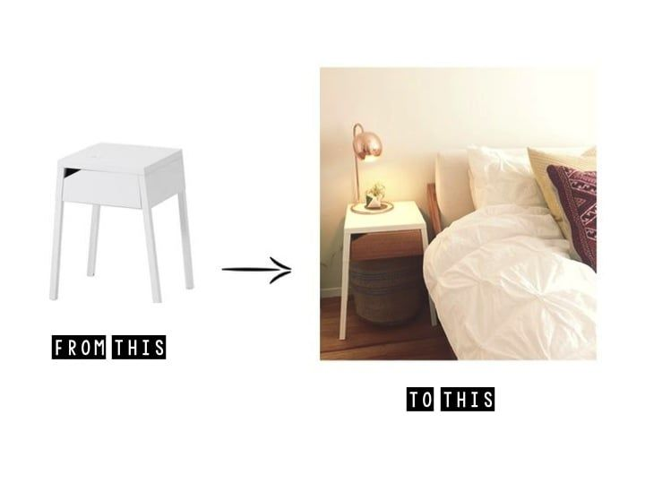 IKEA hack! SELJE bedside table in white