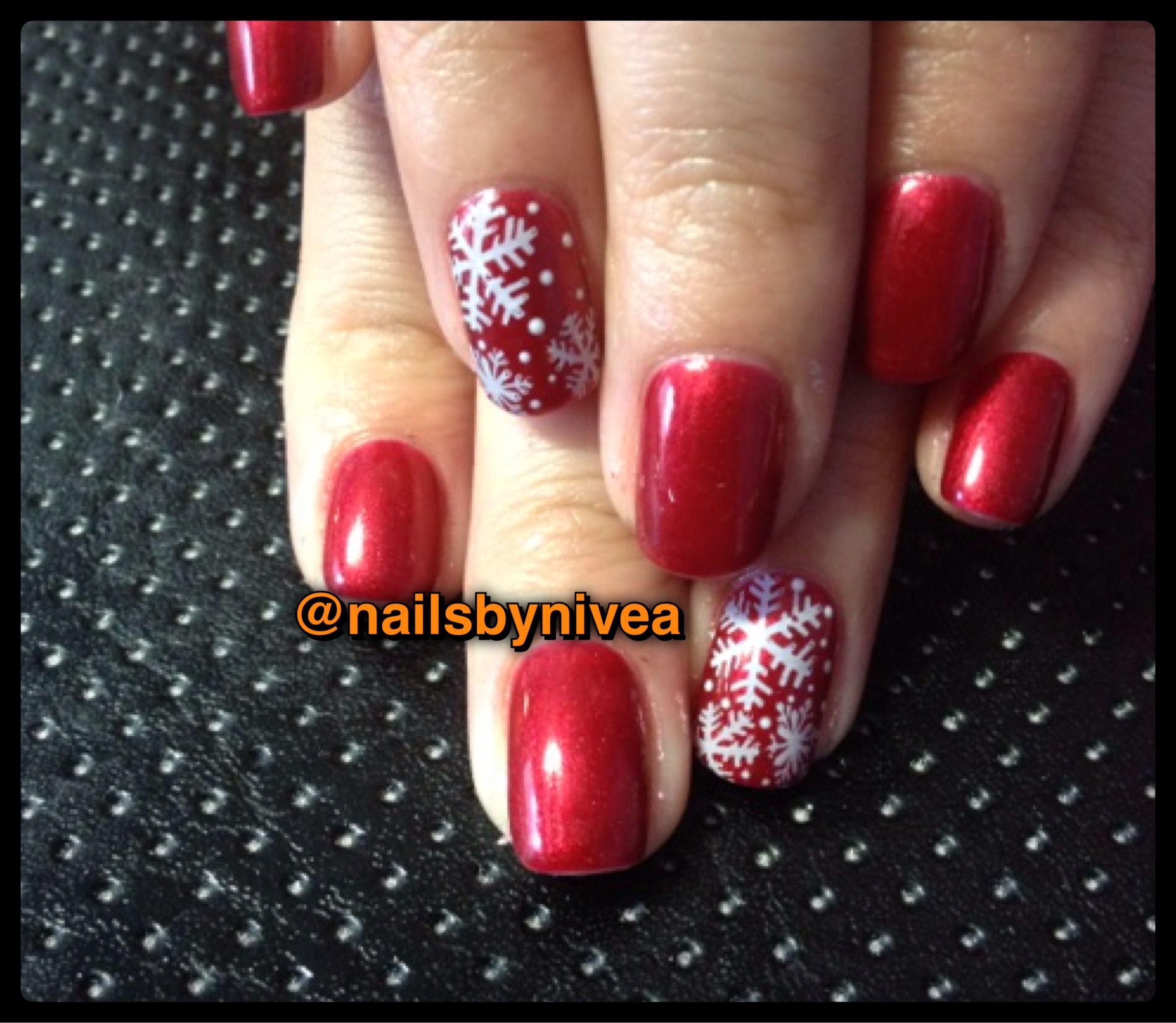 Ideas For Christmas Gel Nails: Christmas Gel Polish Nails