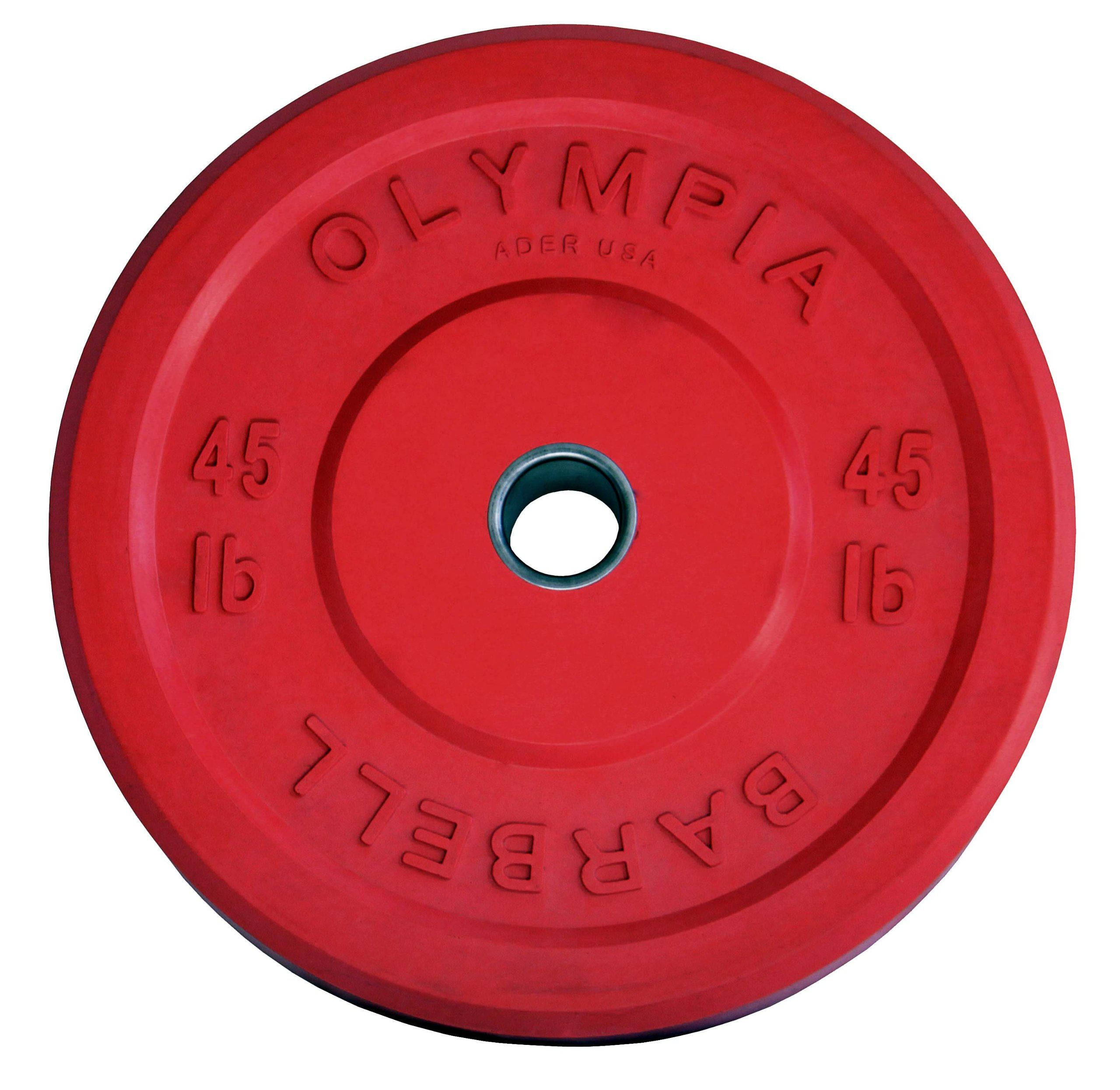 45 lb solid rubber weight plates red pair 45lb solid