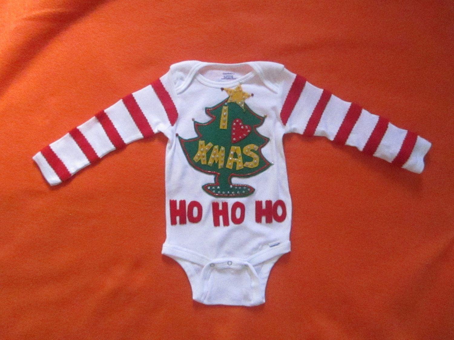 The Grinch Baby Ugly Christmas Sweater Photo Prop By Motherfrakers