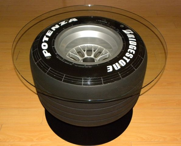 F1 racing wheel tire table furniture dtm lifestyle by for Tyre furniture