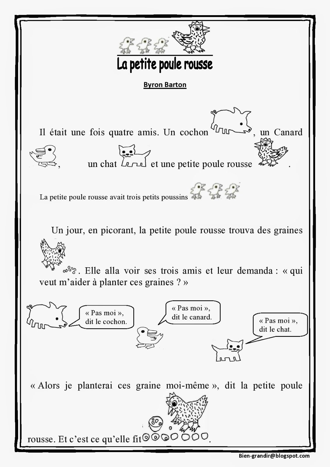 French Kid Songs Le Coq Coq