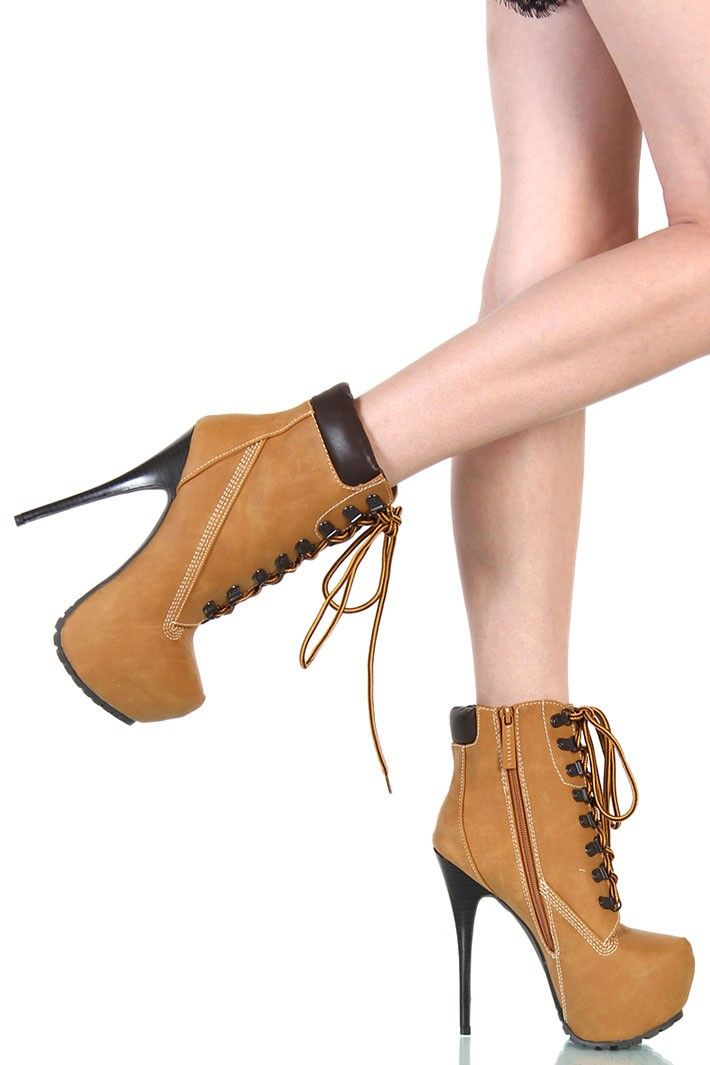 High Heel Boots TimBerland Style - Camel | If the Shoe Fits ...