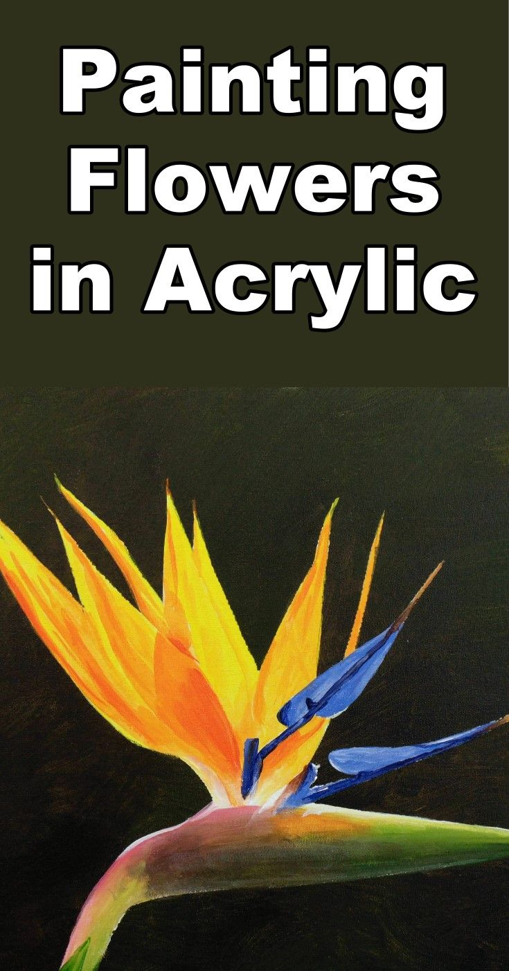 How to Paint a Strelitzia Flower in Acrylic | PAINTING!! | Pinterest ...