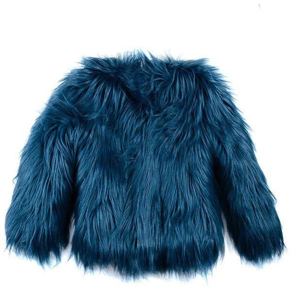 Appaman Faux Fur Coat Baby Coats Girl Fur Coat Blue Faux Fur Coat