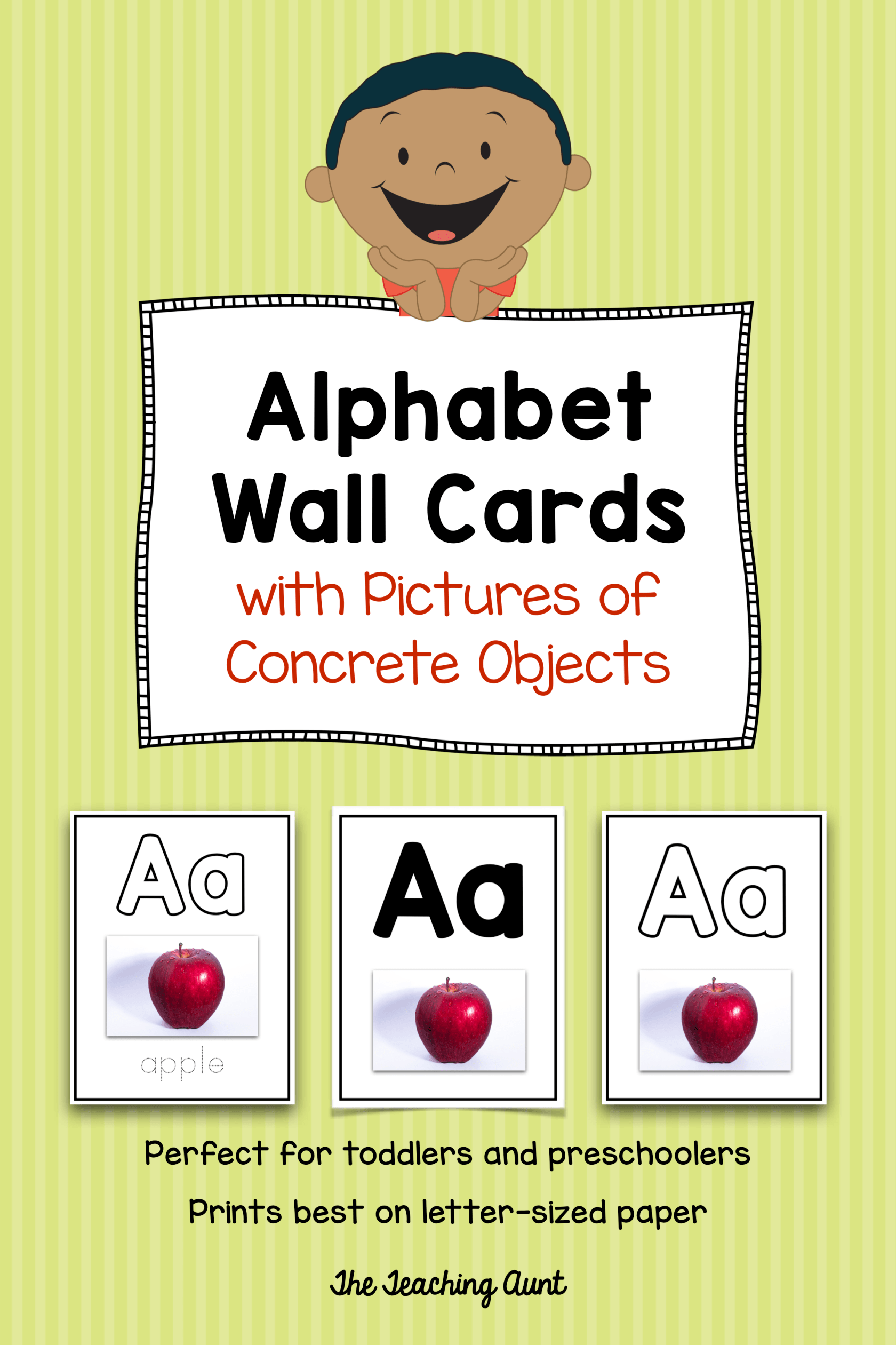 Alphabet Flashcards With Pictures Of Concrete Objects