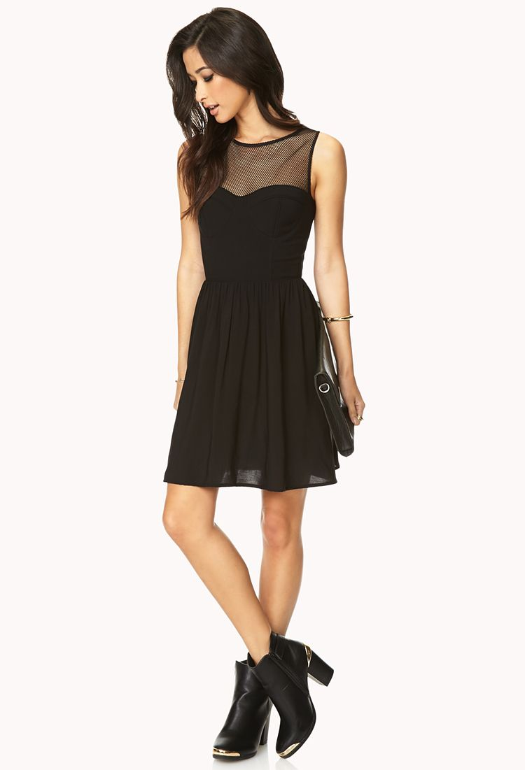 Statement Making Fit Amp Flare Dress Forever21