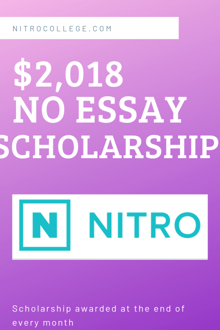 Nitro College Gives Away A 2 018 Scholarship Every Month To Students Or Parents Of Students Who Will Be Scholarships For College Easy Scholarship Scholarships