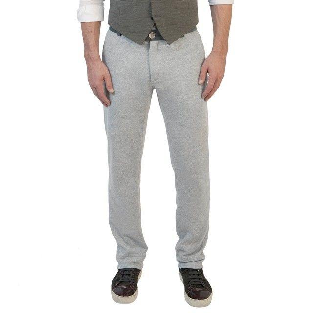 Pantalon de jogging pour homme en coton gris clair chic et habill�