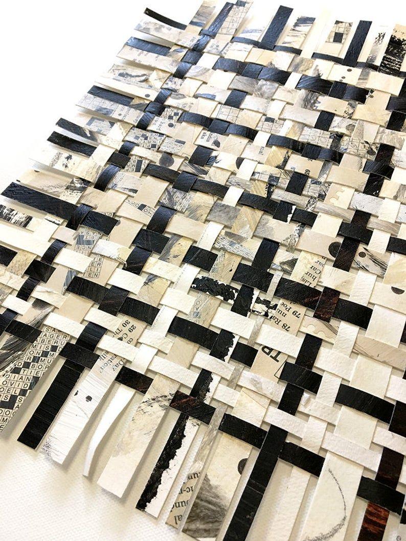 Crossword Weaving Art 12x12 Puzzle Art Abstract Art Woven Etsy In 2020 Puzzle Art Weaving Art Paper Weaving