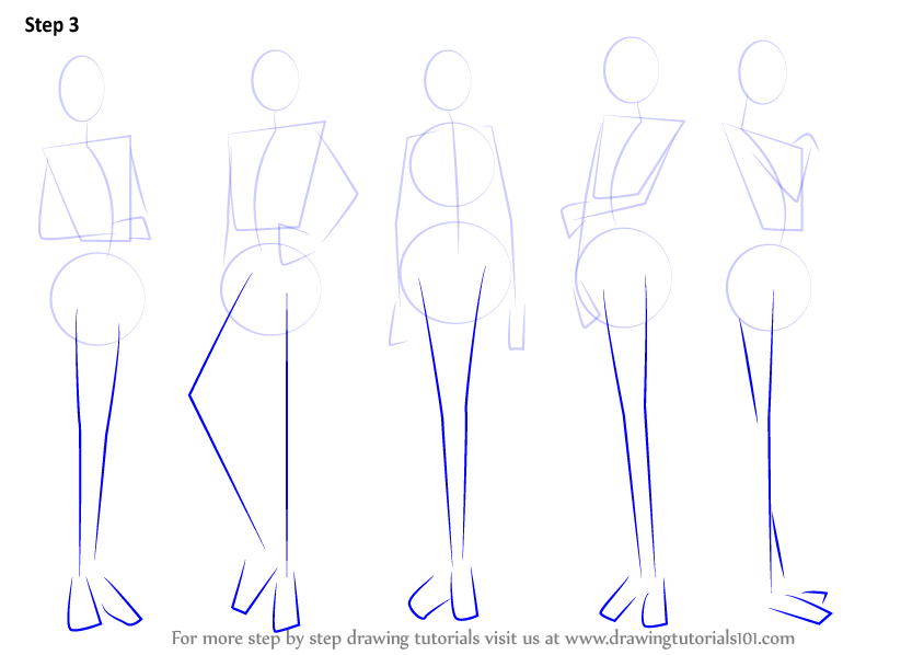 Learn how to draw anime body female body step by step drawing tutorials