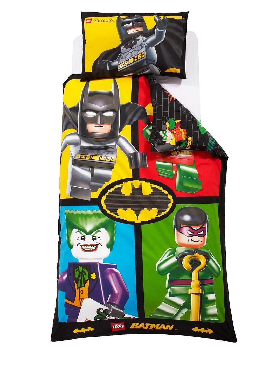 LEGO Batman Card Single Duvet Cover Set | littlewoodsireland.ie