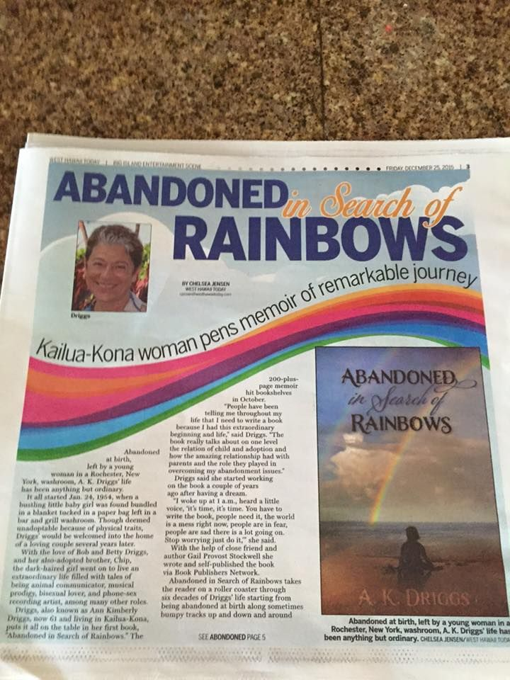 Great article in local paper called, West Hawaii Today, in the Entertainment section!