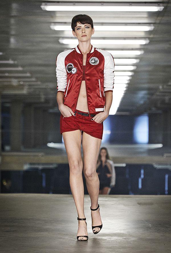 Sporty bomber and denim short. www.g-star.com