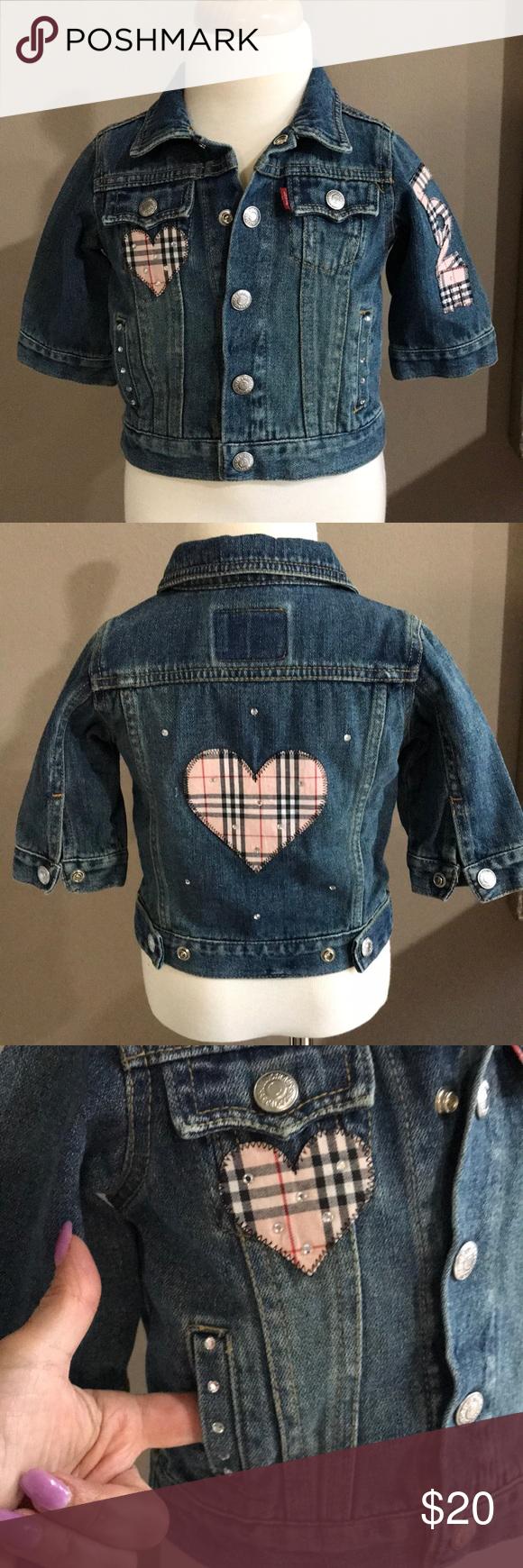 Levi S Baby Girl Denim Embellished Trucker Jacket Girls Denim Jackets Trucker Jacket [ 1740 x 580 Pixel ]