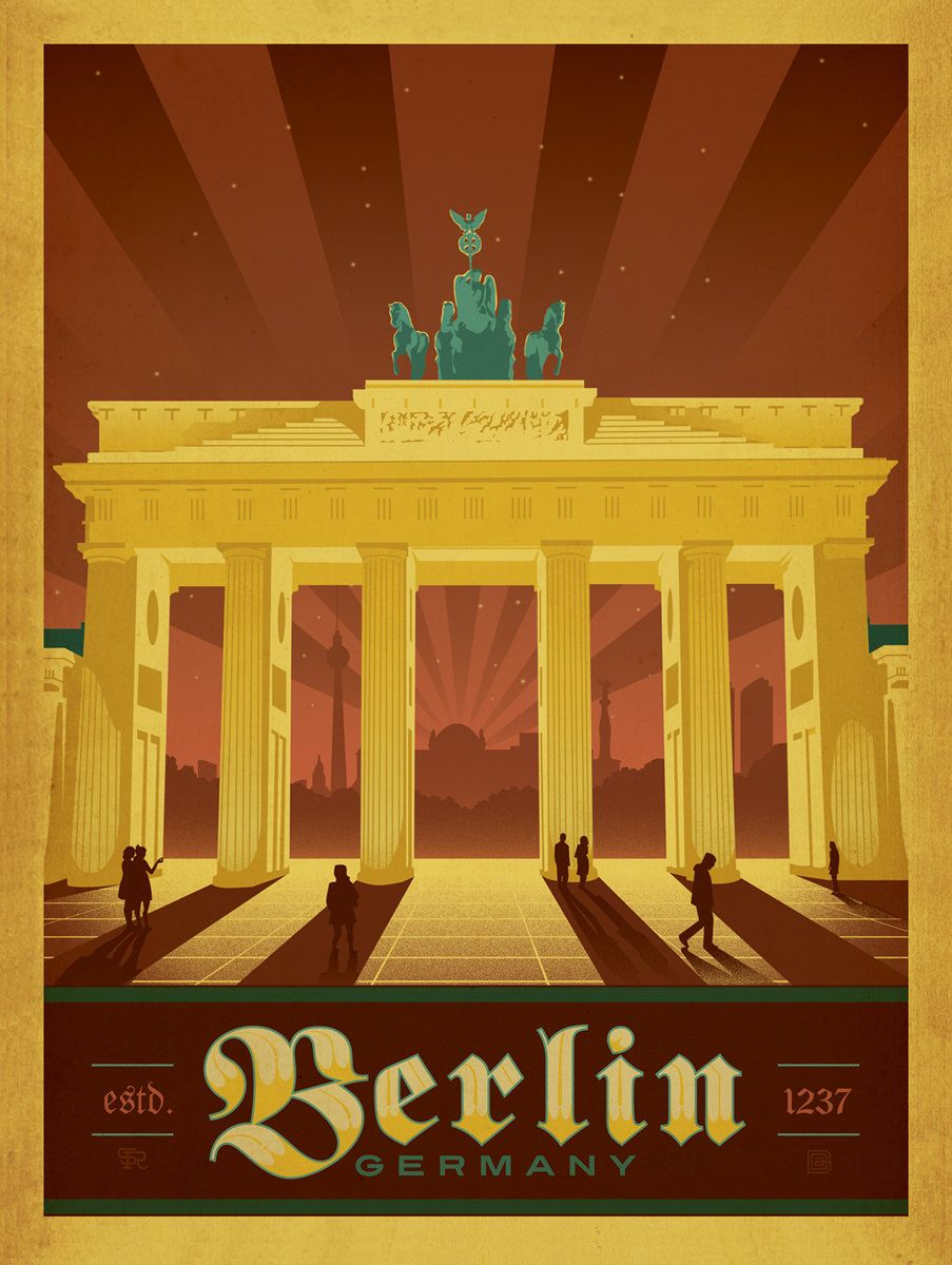 poster of berlin germany poster paintings and vintage pinterest berlin germany and travel. Black Bedroom Furniture Sets. Home Design Ideas
