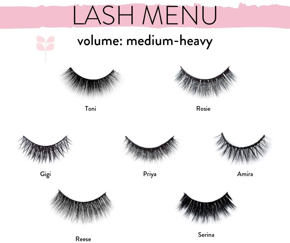 b7e1f80e261 Red Aspen Lash Menu from Medium to Heavy lengths. lovelylashmama.com  #redaspenlove #falsies #lashes #lash #makeup #lovelylashmama