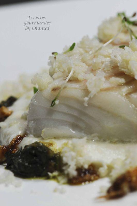 Cabillaud basse temp rature pur e de chou fleur chermoula recettes - Plat cuisine sous vide ...