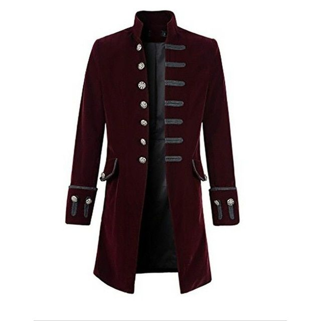 Prince Coat Steampunk Middle Ages men Goth Overcoat Coats Halloween cosplay